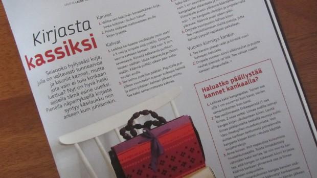 Asukas-lehti kehottaa uusiokäyttöön: hyödytön kirja ihnaksi laukuksi! Asukas 1/2013.