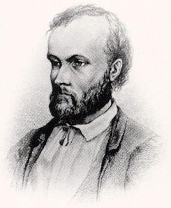 Aleksis Kivi todennäköisesti Albert Edelfeltin kuvaamana.